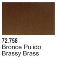 Vallejo Paints  Vallejo Game Color 17ml Bottle Brassy Brass Game Air VLJ72758