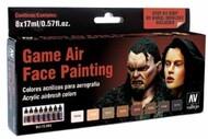 Vallejo Paints  Vallejo Game Color 17ml Bottle Face Painting (Male & Female) Game Air Paint Set (8 Colors) VLJ72865
