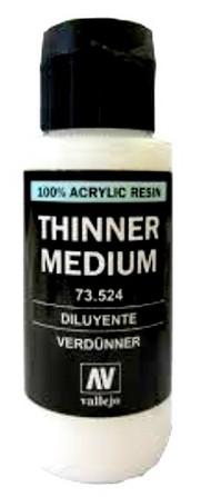 Vallejo Paints  Thinner 60ml Bottle Thinner Medium VLJ73524