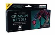 Vallejo Paints  Fantasy-Pro 17ml Bottle Crimson Red Tones Fantasy-Pro Paint Set (8 Colors) VLJ74103