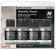 32ml Bottle Metallic Aircraft Panel Metal Color Paint Set (4 Colors) #VLJ77601