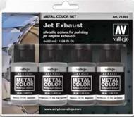 32ml Bottle Jet Engine Exhaust Metal Color Paint Set (4 Colors) #VLJ77602