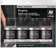 32ml Bottle Aircraft Engine Metal Color Paint Set (4 Colors) #VLJ77604