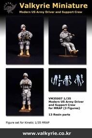Modern US Army Driver & Support Crew for MRAP (3 Figure Set) #VLKVM35007