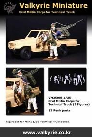 Civil Militia Corps for Technical Truck (3 Figure Set) #VLKVM35009
