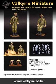 IDF Tank Crew in Yom Kippur War 1973 (2 Figure Set) #VLKVM35018