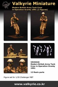 Modern British Tank Crew in Operation Granby 1991 (2 Figure Set) #VLKVM35020