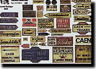 Verlinden Productions  120mm WW II Assorted Road Signs VPI0830