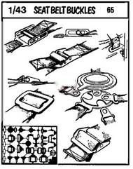 Verlinden Productions  1/43 Seat Belt Buckles Photo-Etched Detail Set VPI65
