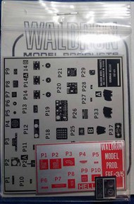 Waldron Accessories  1/24 F6F-3/5 Cockpit Placards WR0083