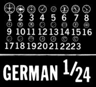 Waldron Accessories  1/24 German Instruments WR0006