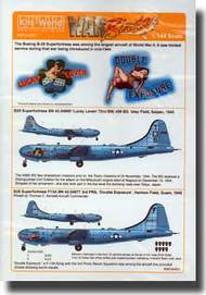 Warbird Decals  1/144 B-29 Lucky Leven, Double Exposure, Ace in the Hole & Fire Ball Yokota Japan 1951 WBS144001