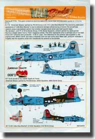 Warbird Decals  1/144 B-17 A Bit O' Lace, My Devotion, American Beauty, Little Miss Mischief WBS144002
