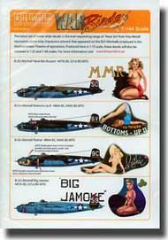 Warbird Decals  1/144 B-25J Meet Mrs Runyon, Big Jamoke, Bottoms-Up II, Ruthie WBS144003