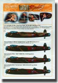 Warbird Decals  1/144 Avro Lancaster Victorious Virgin, Nan, Fanlight Fanny, No Not Now WBS144005