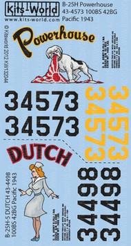 Kits-World  1/32 B25H Powerhouse, Dutch (D)<!-- _Disc_ --> WBS132044