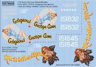Kits-World  1/32 B25J Gorgeous George Ann/There She Blows, Marvellous Miriam (D)<!-- _Disc_ --> WBS132058