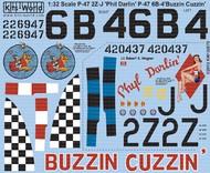 Kits-World  1/32 P47D Phyl Darlin, Buzzin Cuzzin (D)<!-- _Disc_ --> WBS132070