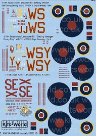 Warbird Decals  1/144 Avro Lancaster B I Johnny Walker Still Going Strong, Getting Younger Every Day, SE-X Devil WBS144049