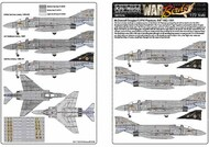 This sheet includes markings to complete any four of the fifteen McDonnell F-4J Phantoms #WBS172216