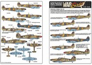 Defenders of Malta. This sheet includes markings to complete almost any of the Spitfires and Hurricanes #WBS172217