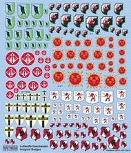 Kits-World  1/48 Multi-Scale 1/72, 1/48 Luftwaffe Fighter Unit Emblems Pt.1 WBS172482