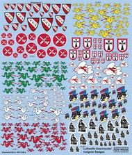 Warbird Decals-Kits World  1/48 Multi-Scale 1/72, 1/48 Luftwaffe Fighter Unit Emblems Pt.2 WBS172483