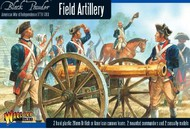 Warlord Games  28mm Black Powder: Field Artillery 1776-1783 (2 Mtd Figs, 2 Casualty Figs, 2 Cannons) (Plastic) WRLAWI02