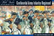 Warlord Games  28mm Black Powder: Continental Infantry Regiment 1776-1783 (30) (Plastic) WRLAWI04