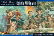 Warlord Games  28mm Black Powder: Colonial Militia Men 1776-1783 (30) (Plastic) WRLAWI06