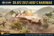 Warlord Games  28mm Bolt Action: WWII Sd.Kfz.251/1 Ausf C Hanomag German Halftrack (Plastic) WRLWM500