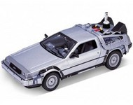 WELLY DIE CAST  1/24 DeLorean Time Machine Back To The Future II (Met. Silver) WLY22441