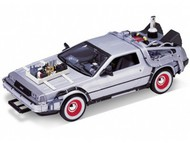 WELLY DIE CAST  1/24 DeLorean Time Machine Back To The Future III (Met. Silver) WLY22444