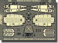 White Ensign Accessories  1/72 Devastator TBD Exterior Detail set WEM7210