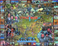 White Mountain Puzzles   N/A Civil War Historical Facts & People Collage Puzzle (1000pc) WMP107