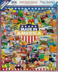 White Mountain Puzzles   N/A Made in America (Products) Collage Puzzle (1000pc) WMP1183