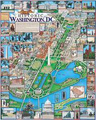 White Mountain Puzzles   N/A Historic Washington, D.C. Collage Puzzle (1000pc) WMP220