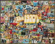 White Mountain Puzzles   N/A The 1970s Events & Famous People Collage Puzzle (1000pc) WMP478