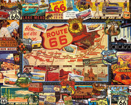 White Mountain Puzzles   N/A Route 66 Collage (Travel Signs, Map/Places) Puzzle (1000pc) WMP747
