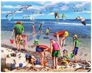 White Mountain Puzzles   N/A Shell Seekers (People on the Beach) Puzzle (550pc) WMP965