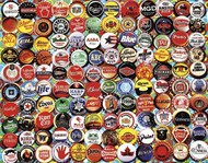 White Mountain Puzzles   N/A Beer Bottle Caps Collage Puzzle (550pc) WMP995