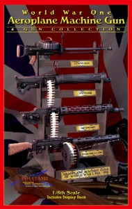 Williams Brothers  1/6 WWI Aeroplane Machine Guns (4 Kits) w/wood display rack WIL16504