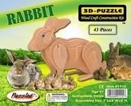 "Wood 3-D Puzzles   N/A Rabbit Skeleton Puzzle (7"" Long) WSK1115"