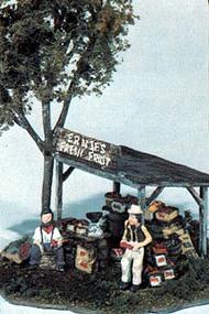 Woodland Scenic  HO Mini Scene Kit-  Ernie's Fruit Stand WOO109