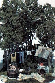 Woodland Scenic  HO Mini Scene Kit- Saturday Night Bath WOO110