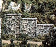 Woodland Scenic  N Random Stone Retaining Wall (6) WOO1161