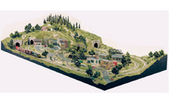 Woodland Scenic  HO Sub Terrain Grand Valley Layout Kit SPECIAL ORDER WOO1483