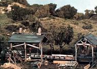 Woodland Scenic  HO Trackside Scene Kit- Tie & Plank Mill WOO154