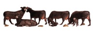 Woodland Scenic  HO Scenic Accents Black Angus Cows (5 & 2 Calves) WOO1955
