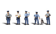 Woodland Scenic  N Scenic Accents Policemen (5 w/Dog) WOO2122
